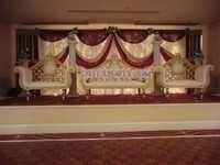 Wedding Golden Carved Furniture Set