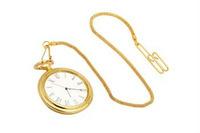 Brass Pocket Watch With Chain