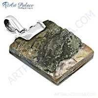 Valuable Shiva Shell Silver Pendant
