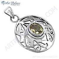 Newest Designer Product Citrine gemstone Silver Pendant