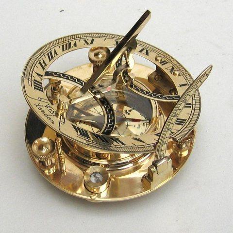 Brass Sundial Compass