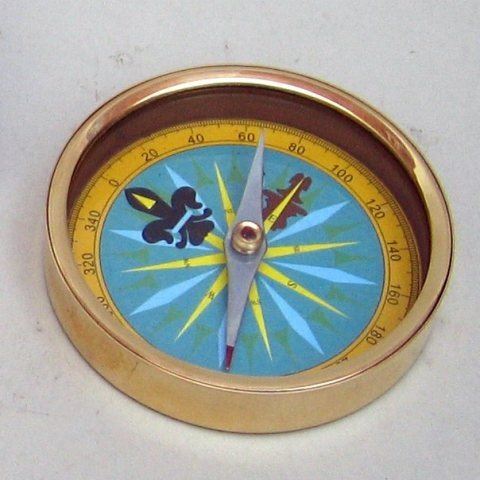 Nautical Brass Directional Compass With Dial