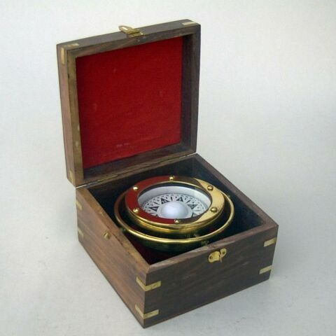 Nautical Brass Gimball Compass