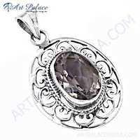Fashionable Popular Rainbow Gemstone Silver Pendant