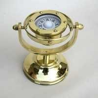 Roundable Nautical Brass Alidade Compass
