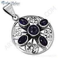 Truly Designer Amethyst Gemstone Silver Pendant
