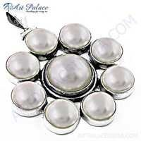 Fashion Accessories Pearl Silver Pendant