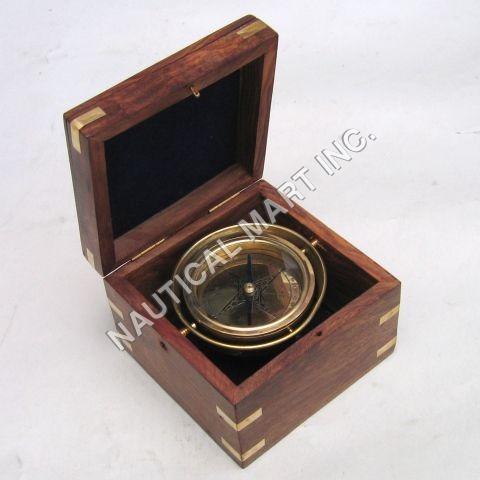 Nautical Gimball Box Compass