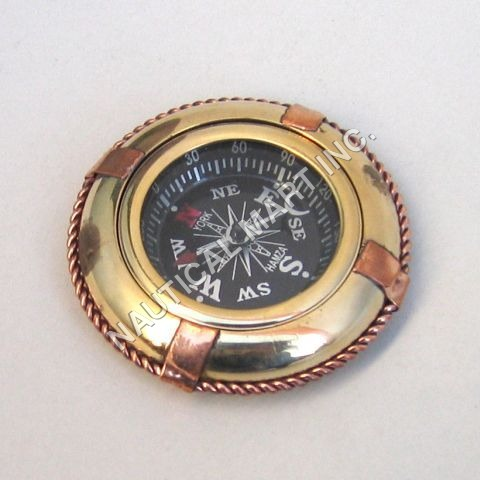Nautical Brass Lifebuoy Compass