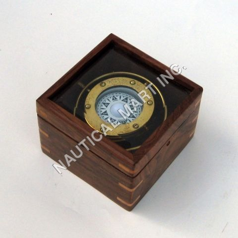 BRASS NAUTICAL GIMBALL COMPASS