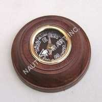 NAUTICAL BRASS WOODEN COMPASS