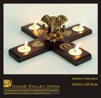 Ganesh 4 Diya Stand