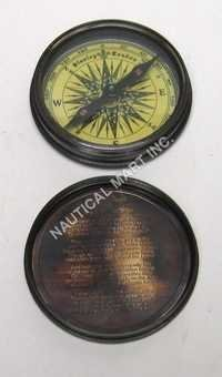 Nautical Brass Poem Compass