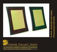Plaque- Burgandy And Green