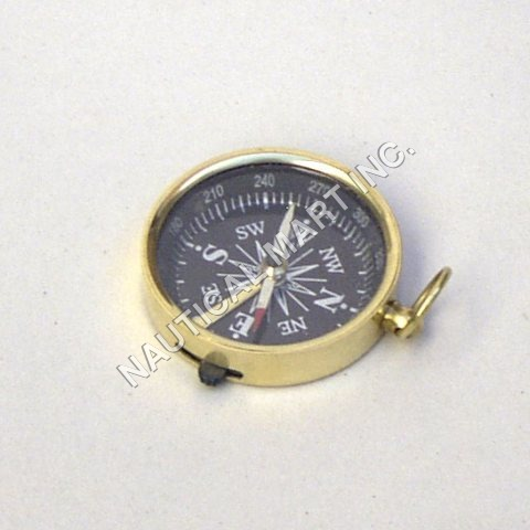 NAUTICAL BRASS POCKET COMPASS