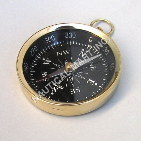 Nautical Brass Pocket Flat Compass
