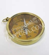 NAUTICAL BRASS POCKET  FLAT COMPASS  3