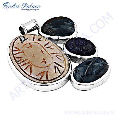 Newest Style Multi Gemstone Silver Pendant