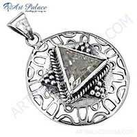 Excellent New Fashionable Crystal Gemstone Silver pendant
