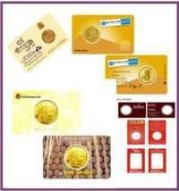 Plastic PVC Gold Sliver Coin Card