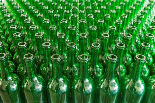 Green Color Bottles