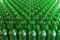 Green Color Bottles