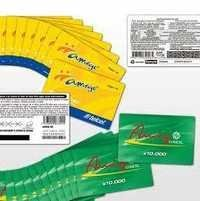 Plastic PVC Scratch Cards