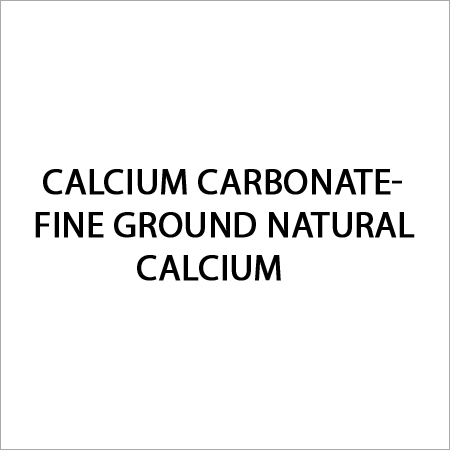 Fine Ground Natural Calcium