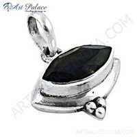 Hot ! Stylish Smokey Quartz Gemstone Silver Pendant