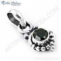 Designer Nightlife Black Onyx Gemstone Silver Pendant
