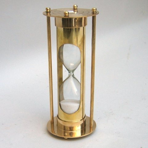 NAUTICAL BRASS SAND TIMER 7