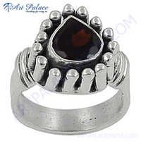 HOT Luxury Fashion Garnet Gemstone Silver Ring