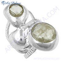 Hot Dazzling Cubic Zirconia Gemstone Silver Ring