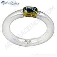 New Fashionable Cubic Zirconia Gemstone Silver Ring