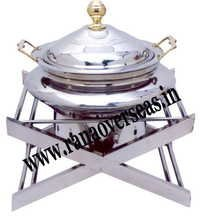 STAINLESS STEEL X SHAPE CHAFING DISH