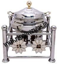 Steel Chafing Dish in Flower Design