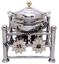 Steel Chafing Dish in Flower Design