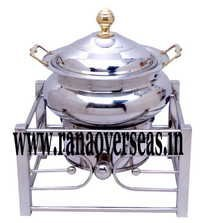 INDIAN STAINLESS STEEL CHAFING DISH