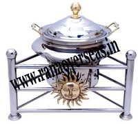 Steel Chafing Dish In Sun  Shape