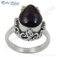 Latest Fashion Garnet Silver Gemstone Ring