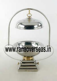 Steel Chafing Dish Lid Hanging on Rod