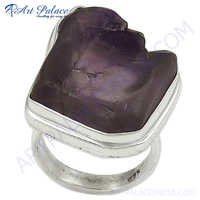 Hot Sale Fashion Amethyst Silver  Gemstone Ring