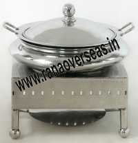 STAINLESS STEEL SQUARE BASE CHAFING DISH