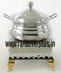 STEEL SQUARE BASE CHAFING DISH