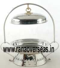Steel Metal Chafing Dish Lid Hanging on Rod