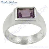 New Classy Amethyst Gemstone Silver Ring