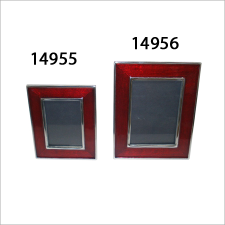 Red Enameled Picture Frames