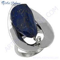 Excellent New Fashion Lapis Lazuli Silver Gemstone Ring
