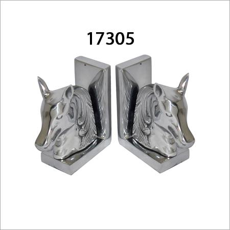 Aluminium Horse Bookends