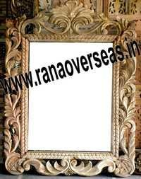 Wooden Mirror Frame In Hand Carving